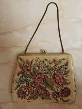 Vintage Walborg Germany Floral Tapestry Clutch