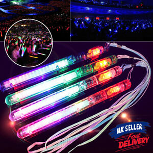 6X Glowsticks Colour Changing Party Glow LED Light Flashing Stick Wand in Dark