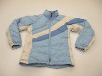 COLUMBIA Jacket Women's Size S Down Fill Blue/White Stripe Puffer