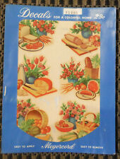 Vintage Meyercord Decals X140B Fruit Kitchen Cheese Salami Melon - 6 Decals