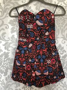 H&M Ladies Floral Playsuit Size 6 Brand New