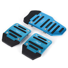 3X Car Auto Vehicle Non-slip Pedal Aluminium Alloy Foot Treadle Cover Pad Blue K