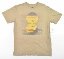 O'Neill GLASSOFF Mens Short Sleeve T-Shirt Khaki Medium NEW