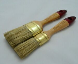 50 & 30 OVAL PERFECT WOOD LUX Paint Brush Set OREL Shabby Chic Chalk Paint