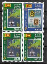 m141 SRI LANKA/ 50 Jahre CEPT-Marken MiNr 1525/26 ** ZD-Viererblock