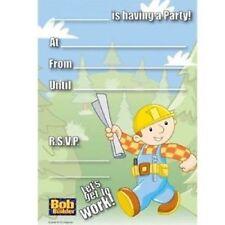 12 x20 =240 BOB THE BUILDER CHILDREN'S PARTY INVITATIONS & ENVELOPES BIRTHDAY