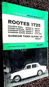 PIET OLYSLAGER MOTOR MANUALS #77: ROOTES 1725 & SUNBEAM TIGER 1965-67