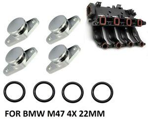 4x 22mm Swirl Flaps Replacement blanks BMW 2.0 M47 118D 120D 318D 320D 520D X3