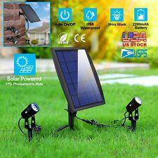 LED Twin Solar Spot Lights Outdoor Landscape Garden Lawn Lamps Waterproof IP65