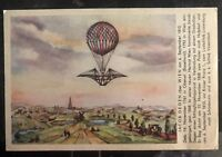 1958 Vienna Austria Ballon Flight Postcard Cover FFC to Mohnton PA USA