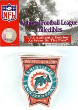2002 Miami Dolphins 30th Anniversary of 1972 Perfect Season Patch Official NFL