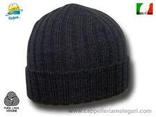 Cappello cuffia Cuculo pura lana costa media grigio