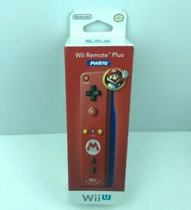 New Nintendo Wii U Remote Plus controller Mario US Release Factory Sealed