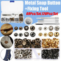 Metal Snap Button Press Stud Leather Bag Clothes Popper Fastener Fixing Tool Kit