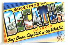 Greetings from Decatur FRIDGE MAGNET (2.5 x 3.5 inches) illinois state travel