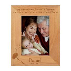 PERSONALISED IN LOVING MEMORY HEAVEN PHOTO FRAME MUM DAD NAN REMEMBRANCE GIFT