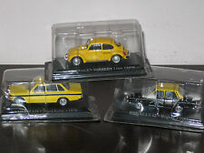 LOTTO 3 TAXI  VOLVO 144 STOCCOLMA RENAULT 12 BOGOTA' VOLKSWAGEN BEETLE LIMA 1:43