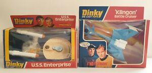 STAR TREK : U.S.S. ENTERPRISE, KLINGON BATTLE CRUISER DINKY MODELS(DRMP)