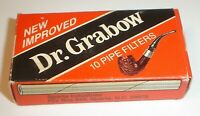 Vintage Dr. Grabow New Improved (8) Pipe Filters w/ Original Box Made In USA NOS