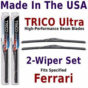 Buy American: TRICO Ultra 2-Wiper Blade Set: fits listed Ferrari: 13-18-18