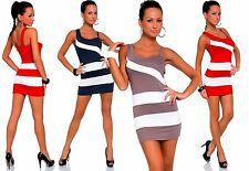 Polyester Wiggle, Pencil Regular Striped Dresses for Women