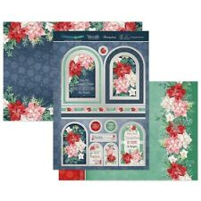 New 2020 Hunkydory Poinsettia Promise Christmas Toppers & Card Kit