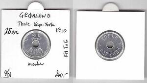 GREENLAND - RARE 25 ORE THULE KAP YORK COIN 1910 YEAR KM#Tn6