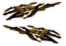 Suzuki GSX R1000 R750 R600 1250 750F 650F Hayabusa Katana Skull rip Gold decal
