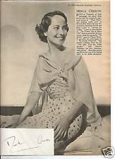 Silver screen star - MERLE OBERON signed card with pic