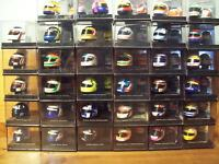 CHOICE OF 1/12 ONYX HELMETS FROM ALESI,HILL,BERGER,COULTHRD,IRVINE,MANSELL.ETC