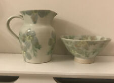 CONWY POTTERY JUG AND BOWL VINTAGE WELSH FLORAL
