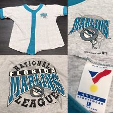 Vintage 1993 90's Florida Marlins Baseball Jersey Men's L MLB Baseball