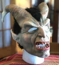 Vintage BYBY Rubber Adult Prop Full Mask SATAN Devil LUCIFER w RAM GOAT Horns