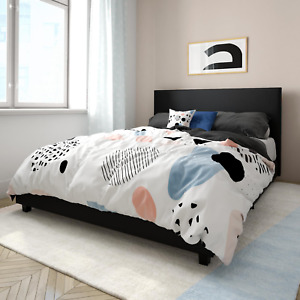 MAINSTAYS UPHOLSTERED PLATFORM BED - VARIOUS COLORS/SIZES