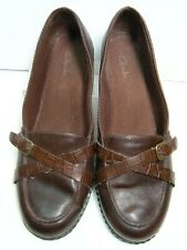Clarks  Womens Loafers Shoes 88931 Size 8 M Brown leather #U