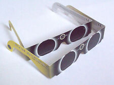 """2 PAIRS SOLAR ECLIPSE VIEWER GLASSES, NEW, CE APPROVED, """"THE ECLIPSER"""", US MADE"""