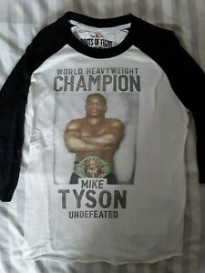 ROOTS OF FIGHT MIKE TYSON Raglan T-shirt Size M