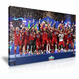 Liverpool 2019 Champions Football Print Canvas Wall Art 76x50cm