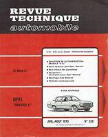 REVUE TECHNIQUE AUTOMOBILE 326 RTA 1973 OPEL REKORD II RENAULT 16 TL