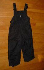 BOYS Ski Snow Bibs Pants BLACK Waterproof Insulated Reinforced KIDS XS 4/5