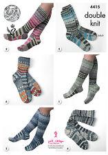 King Cole 4415 Socks DK Knitting Pattern Age 4 Years-adult