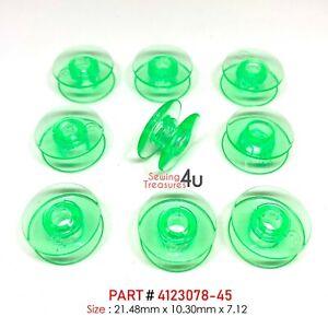 Green BOBBINS Fit Viking Husqvarna Sewing Machines Plastic # 4131825-45