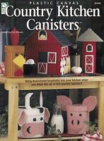 Country Kitchen Canisters Plastic Canvas Pattern Booklet HWB 181065 Silo Cow Pig