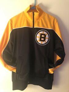 NWT NHL BOSTON BRUINS FULL ZIP MITCHELL & NESS JACKET SMALL