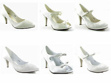 NEW LADIES WOMEN BRIDAL BRIDESMAID, PROM SATIN SHOE SIZE 3 - 8