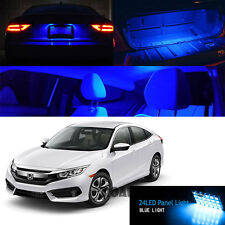 16-Up Civic LED Xenon Interior Dome Map Reading Light Bulb 24-SMD (SUPER BLUE)