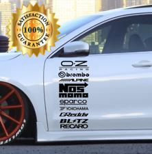 Auto Sponsoren Wunschsponsoren Aufkleber Sticker Decals Set