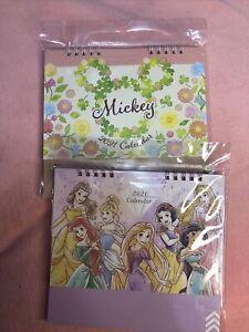 Disney Small Desk Calender Set Mickey Mouse Disney Princesses