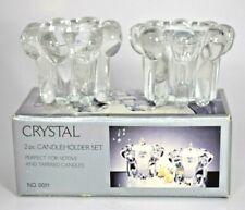 Alco Crystal 2pc Candleholder Set (Tapered/Votive) NIB