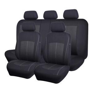 Jacquard Car Seat Covers Universal Split 60/40 50/50 Airbag Compatible Black